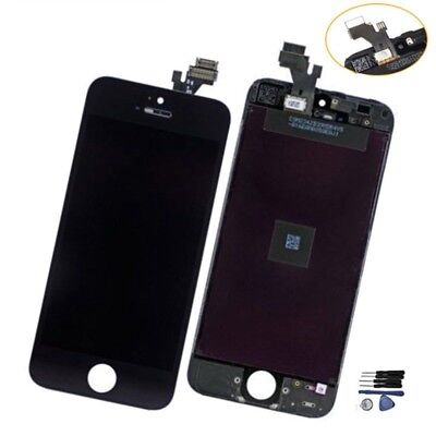 LCD Dispaly Screen Assembly Digitizer Replacement For Black iPhone 5 +Free Tools