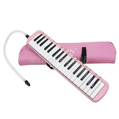 Pink 37 Keys Melodica Musical Instrument Beginners Students Childrens Gift