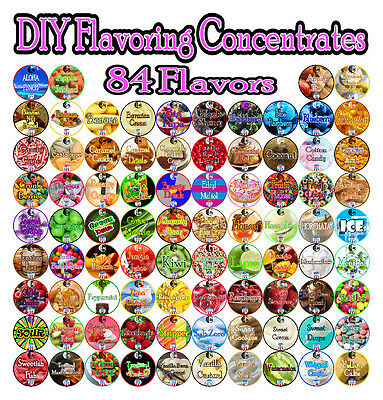 12ml - 30ml - 60ml Flavoring Concentrates Perfect For DIY 3E Juice - Liquids