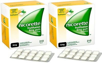 Nicorette 6mg Gum Nicotine 420 Pieces - Fruit Fusion Flavour (03/2018)