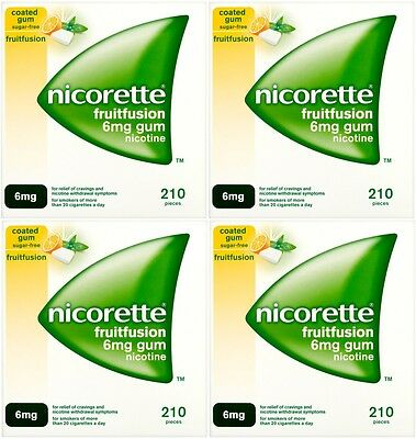 Nicorette 6mg Gum Nicotine 840 Pieces - Fruit Fusion Flavour (03/2019)