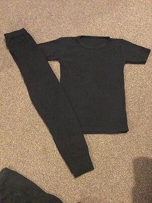 Boys Black Thermals Age 7-8 Years