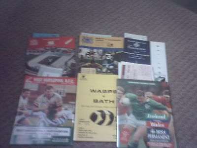 6 x Rugby Union Programmes & Tickets 1980s,90,2006.