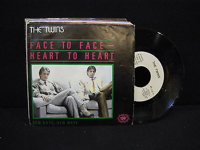 The Twins ‎– Face To Face - Heart To Heart ' 7'' MINT PROMO SPAIN PRESS