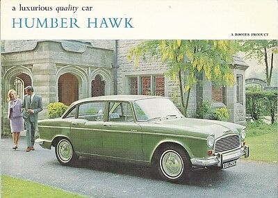 A Luxurious Quality Car Humber Hawk Brochure.
