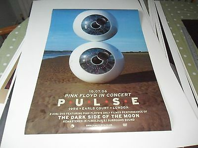 Pink Floyd.pulse Promo 2 Sided Poster Mint