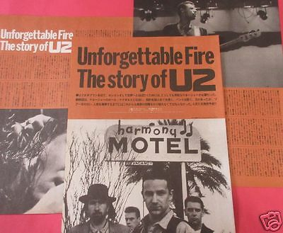 U2 BONO Unforgettable Fire Story of U2 Vol4 1988 CLIPPING JAPAN PG 4A 5PAGE