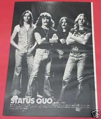 Status Quo 1976 Clipping Japan Magazine Os 5A