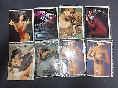 Lot Of 8 1980s Glamour Greetings Cards Unused