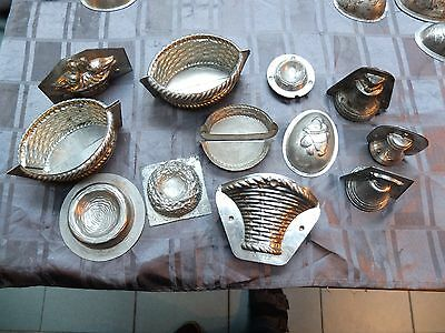12 antique chocolate molds easter baskets +++