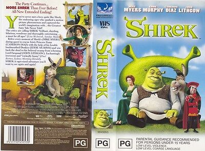 SHREK MIKE MYERS  universal ~VIDEO VHS PAL~A RARE FIND