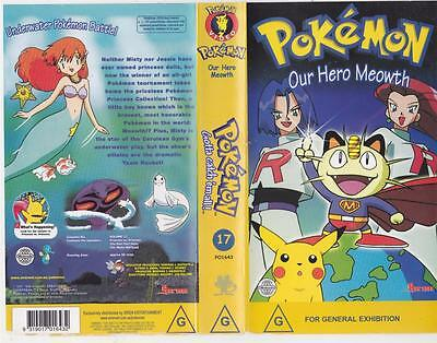 Pokemon Volume 17 Our Hero Meowth  Vhs Pal Video~ A Rare Find