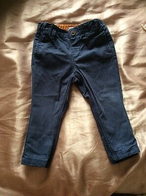 Baby Boys Navy Chinos Size 9-12 Months
