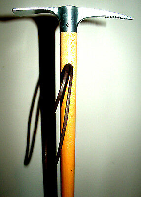Metal Ice Axe Walking Stick Cord Hand Support Cane Alpine Wooden Walking Stick