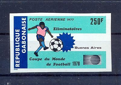Gabon 1977 World Soccer Cup, Buenos Aires Imperforate. MNH VF.