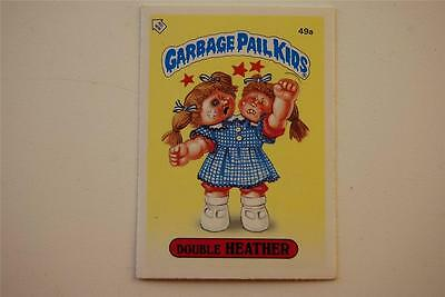 49a Garbage Pail Kids Double Heather 1985 80s Vintage Trading Card Sticker