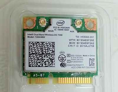 Intel Dual Band Wireless-AC 7260 - PCI Express Half Mini Card, BULK