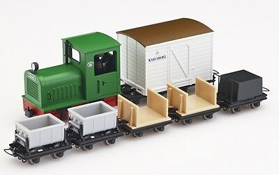 Minitrains 5094 - Diesel Locomotive & 6 Wagons - New (009/HOe Narrow Gauge)