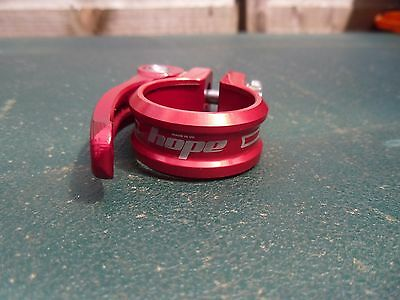 Hope quick release bike seat post clamp 31.8 mm red, bicycle seatpost QR clamp