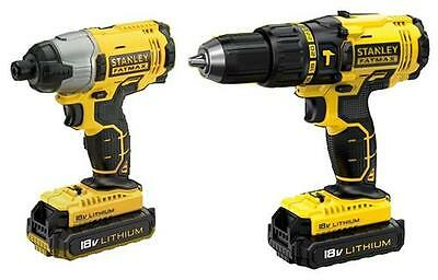 Ex Display Stanley FMCK465C2 18V Cordless Hammer Drill & Impact Driver *No Bag*