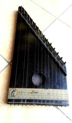 RARA Vintage CETRA in legno : Marca Junior Zither - New York - 101 fouth avenue