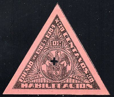 COLOMBIA - 30c TRIANGULAR REVENUE STAMP - 1903/04 - Anyon H31 - Forbin 25 - RR