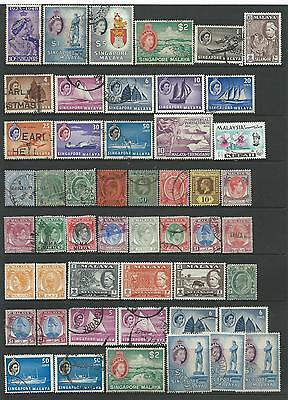 Collection of good used Malaya stamps.