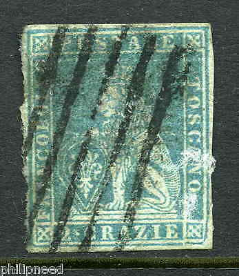 TUSCANY 1850s 2 Crazie Blue Used - with watermark [P281