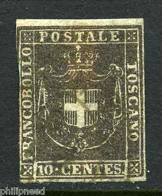 TUSCANY 1860 10c Brown Used - with watermark [P279