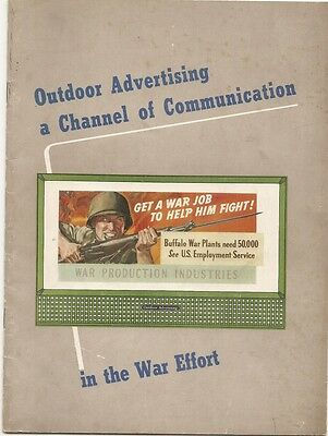 1943 booklet Outdoor Advertising a Channel of Communication billboards