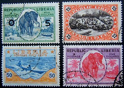 LIBERIA. 1860 - 1953 range m & u. Most OK - but please see comments (73 stamps).
