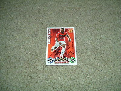 Patrice Evra - Manchester United - Signed 09/10 Match Attax Trade Card