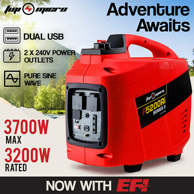 NEW GENFORCE Inverter Generator 2.7kVA Max 2.5kVA Rated Portable Camping Petrol