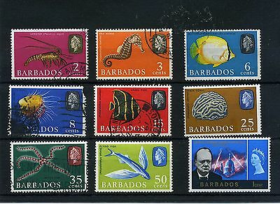 Barbados.9 -- 1965/6 Qe2 Mounted Mint/ Used Stamps On Stockcard