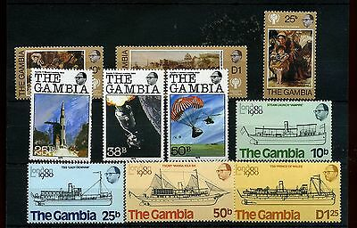 Gambia.10 -- 1970/80's Unmounted Mint Stamps On Stockcard