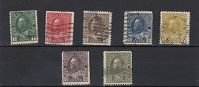 Canada.7 -- G5 1911 Used Stamps On Stockcard