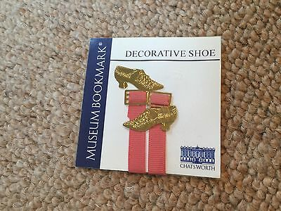 Vintage  Brass Decorative Shoe Bookmark. Unopened. Lovely! From Chatsworth.