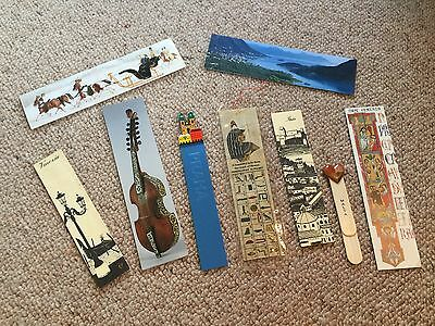 9 Vintage Bookmarks- 8 from European Cities and 1 from Egypt.