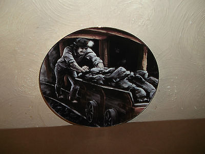 David Fisher Coal Miner Large Plate