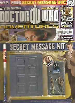 DOCTOR WHO ADVENTURES #273, June 2012 - FREE! SECRET MESSAGE KIT!