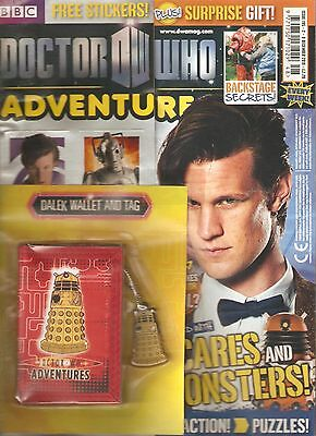 DOCTOR WHO ADVENTURES #195, Dec 2010 - FREE! STICKERS + DALEK WALLET & TAG