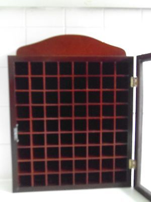 Thimble  Rack  With  Glass  Door  Hold 72  Thimbles