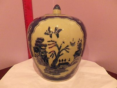 Fab Large Vintage Chinese Oriental Scene Design Ginger Jar / Pot 20.5 Cms Tall