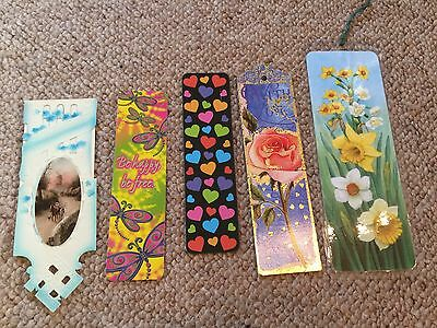 5 Vintage Hearts and Flowers etc. Themed Bookmarks.