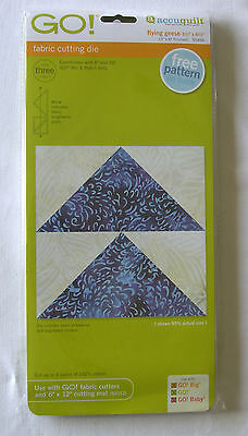 """ACCUQUILT GO! - FABRIC CUTTING DIE - FLYING GEESE 3.5"""" x 6.5"""""""