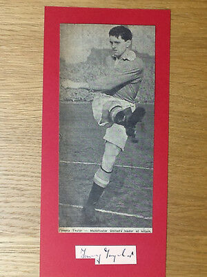 Tommy Taylor signed card Manchester United autograph Busby Babe original picture