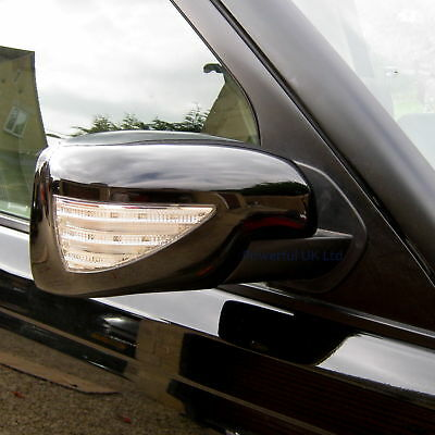 NEW black mirror cover with LED indicator+ welcome light for Range Rover Sport