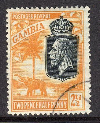 Gambia KGV 1922-29  2½d Orange Yellow SG127 Used