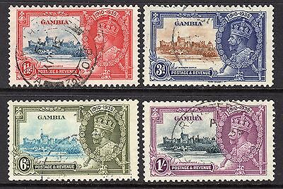 Gambia KGV 1935 Silver Jubilee Set SG143-46 Used
