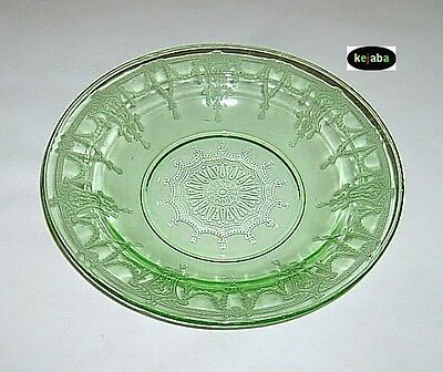 Cameo Ballerina Green Bowl 9 in. Rimmed Soup Hocking